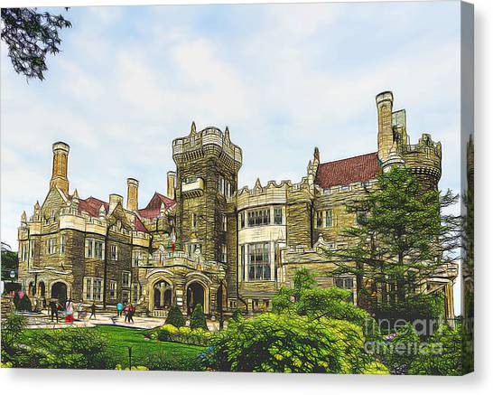 Casa Loma In Toronto Canvas Print