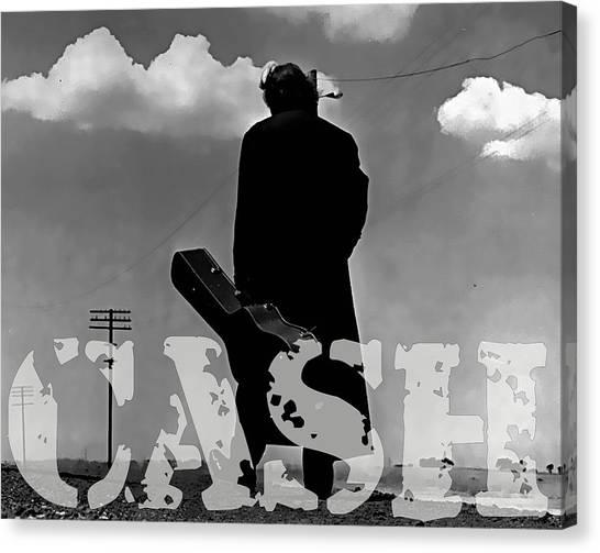 Johnny Cash Canvas Print - Johnny Cash by Marvin Blaine