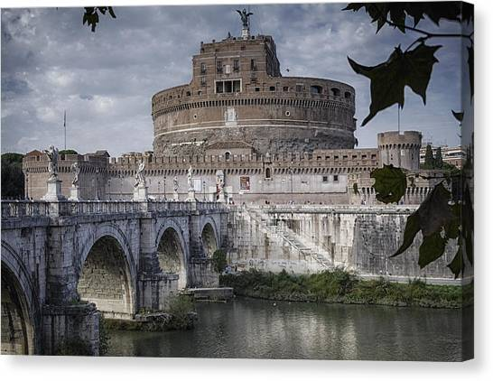 Fortification Canvas Print - Castel Sant' Angelo by Joan Carroll
