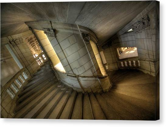 Castle Stairs Canvas Print by Ioan Panaite