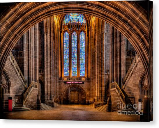 Aisle Canvas Print - Cathedral Window by Adrian Evans