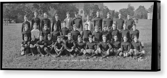 University Of Washington Canvas Print - Catholic University Freshman Football by Fred Schutz Collection
