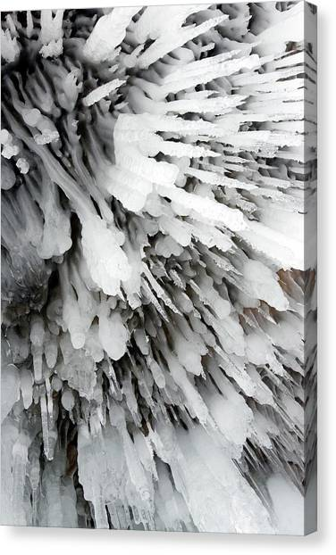 Ice Caves Canvas Print - Cave Icicles by Louise Murray