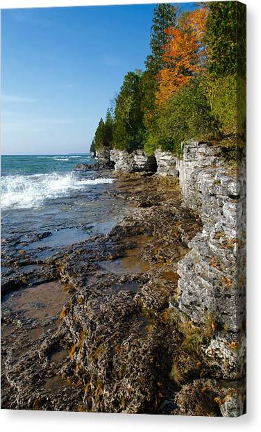 Cave Point County Park Canvas Print