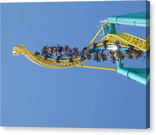 Cedar Point - Wicked Twister - 12122 Canvas Print