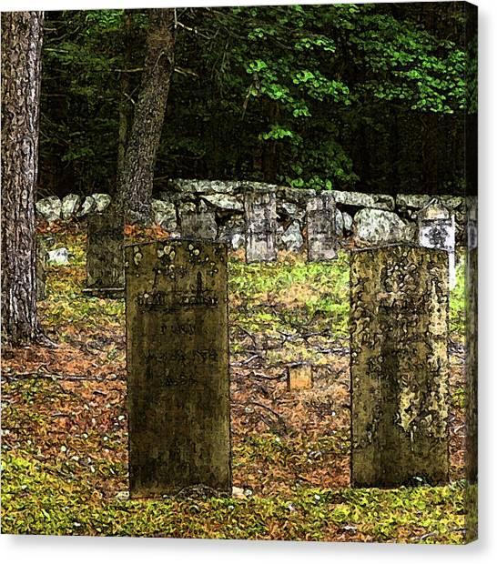 Cemetery Canvas Print