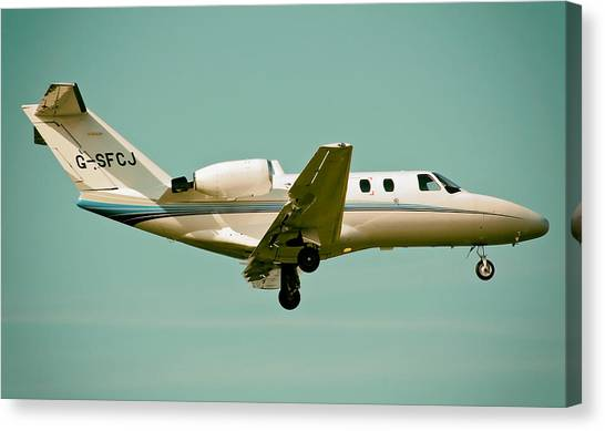 Cessnas Canvas Print - Cessna 525 Citation by Mountain Dreams
