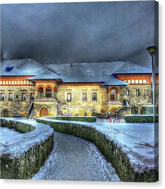 Orthodox Art Canvas Print - Cetatuia Monastery by Octav Studio