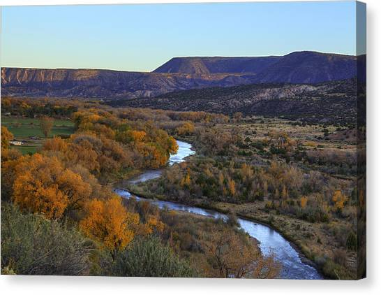 Chama River At Sunset Canvas Print