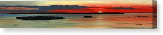 Chambers Island Sunset II Canvas Print