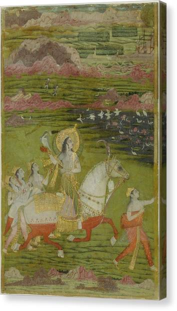 Jihad Canvas Print - Chand Bibi Hawking by Celestial Images