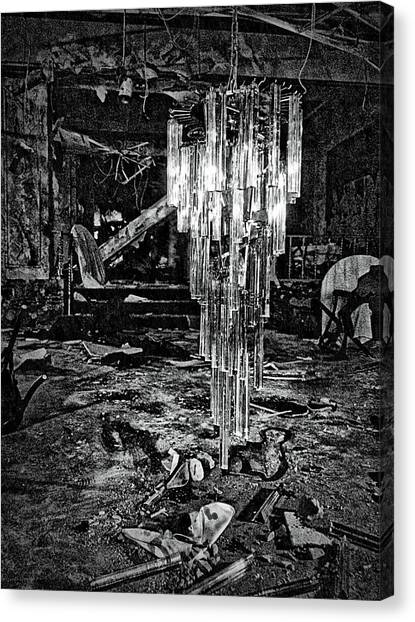Urban Decay Canvas Print - Chandelier by H James Hoff