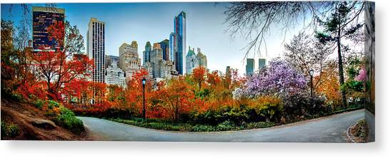New York Skyline Canvas Print - Changing Of The Seasons by Az Jackson