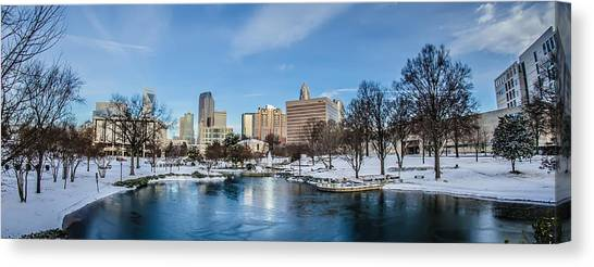 Charlotte Downtown Canvas Print