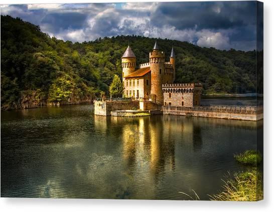 Castles Canvas Print - Chateau De La Roche by Debra and Dave Vanderlaan