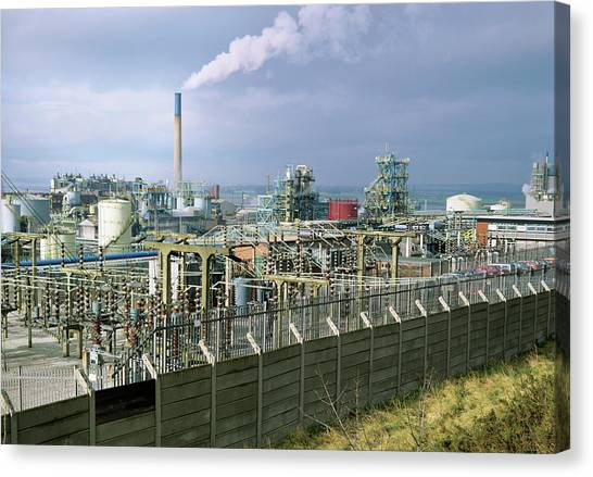 Chemical Works Canvas Print by Robert Brook/science Photo Library