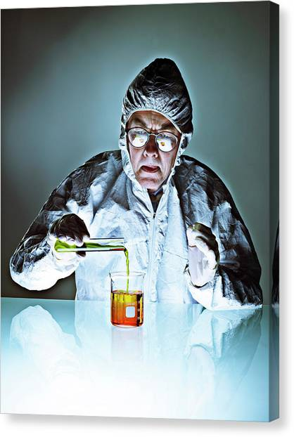Protective Clothing Canvas Print - Chemistry by Coneyl Jay/science Photo Library