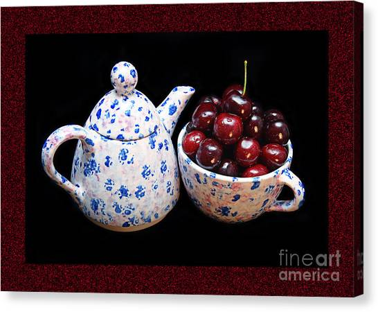 Cherries Invited To Tea 2 Canvas Print