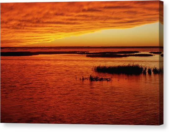 Cheyenne Bottoms Sunset Canvas Print