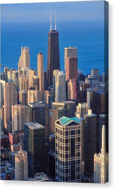 Chicago Aerial View Canvas Print