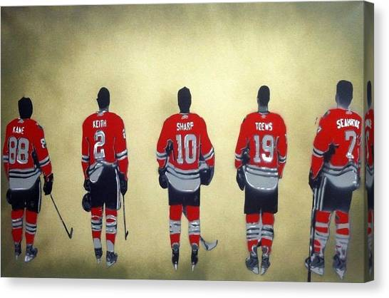 Patrick Kane Canvas Print - Chicago Blackhawks  by Mark Burns