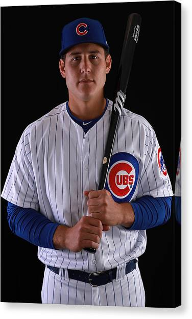 Chicago Cubs Photo Day Canvas Print by Gregory Shamus