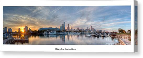 Soldier Field Canvas Print - Chicago From Burnham Harbor by Twenty Two North Photography