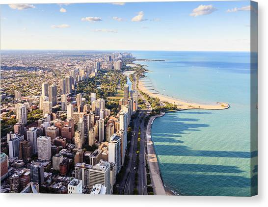Chicago Lakefront Skyline Canvas Print by Fraser Hall