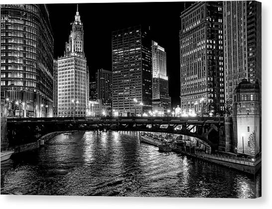 Chicago River Canvas Print by Jeff Lewis