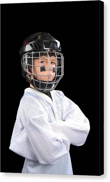 Child Hockey Player Canvas Print