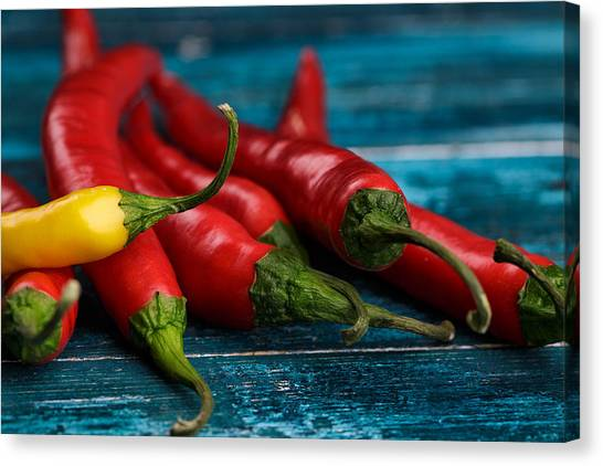 Pepper Canvas Print - Chili Peppers by Nailia Schwarz