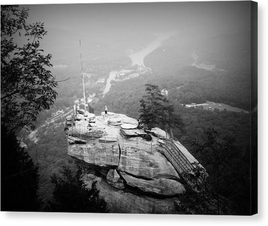Canvas Print featuring the photograph Chimney Rock by Kelly Hazel