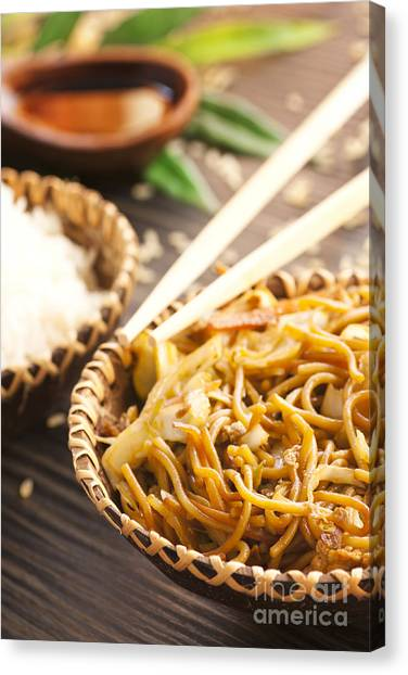 Chinese Food Canvas Print by Mythja  Photography