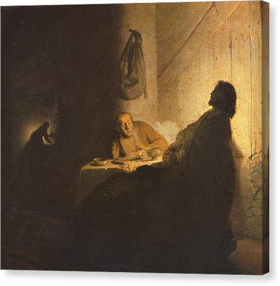 Jesus Christ Road To Emmaus Painting By Rembrandt