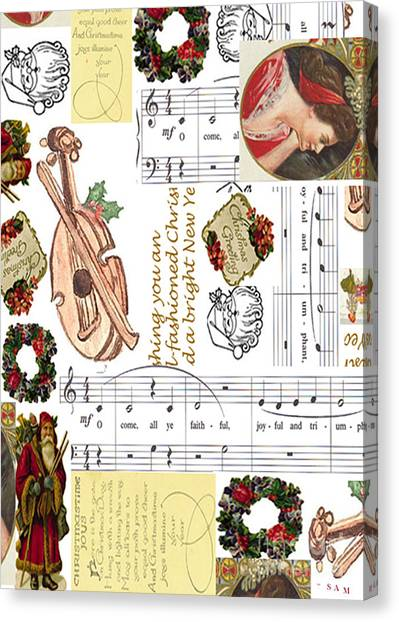 Christmas Collage Canvas Print