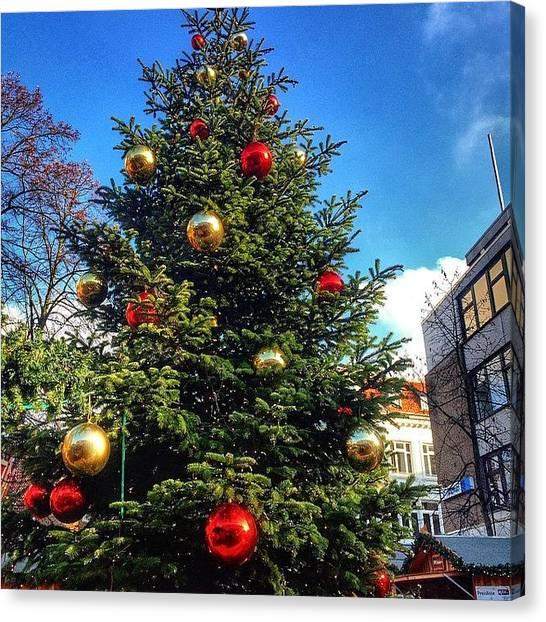 Iphone 5s Canvas Print - Christmas Market Elmshorn Hamburg by Octav Studio