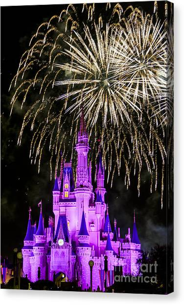 Magic Kingdom Cinderella Castle Canvas Print