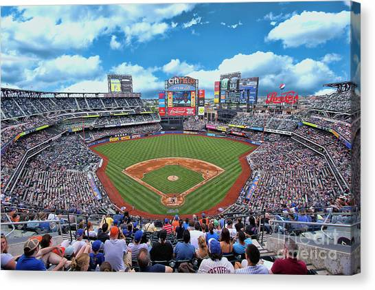 Citi Field 2 - Home Of The N Y Mets Canvas Print