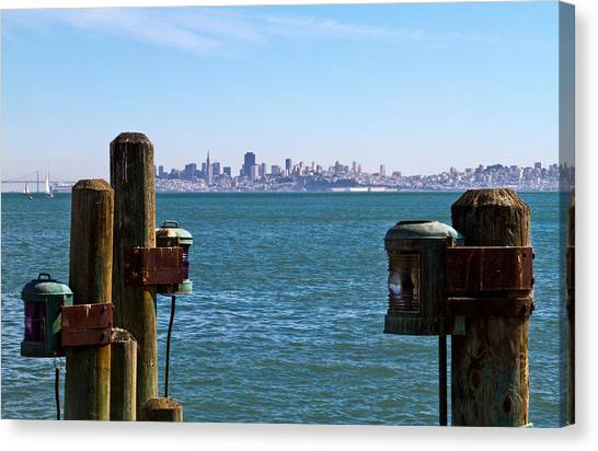 City By The Bay Canvas Print by Bernard  Barcos