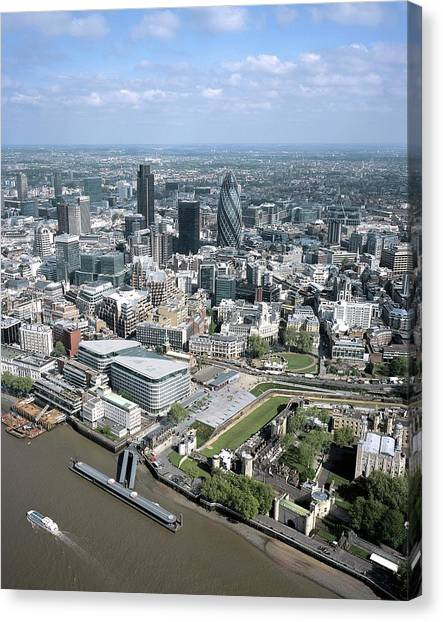 Tower Of London Canvas Print - City Of London by Alex Bartel/science Photo Library