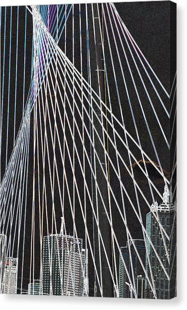 City Through The Bridge 2 Canvas Print