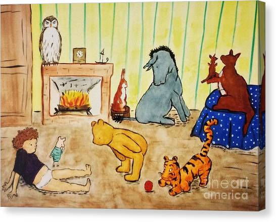 Classic Winnie The Pooh And Friends Canvas Print