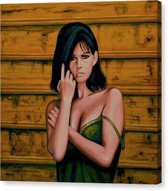 Panther Canvas Print - Claudia Cardinale Painting by Paul Meijering