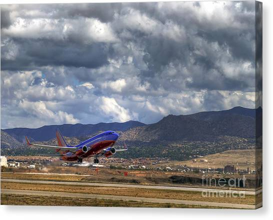 Cleared For Departure Canvas Print