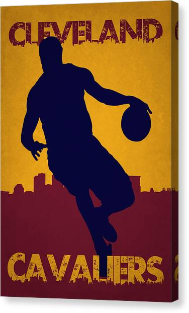 Lebron James Canvas Print - Cleveland Cavaliers Lebron James by Joe Hamilton