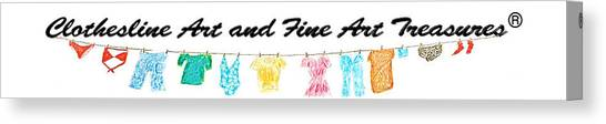 Clothesline Gallery Logo Canvas Print