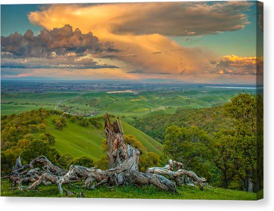 Contra Canvas Print - Clouds Over Central Valley At Sunset by Marc Crumpler
