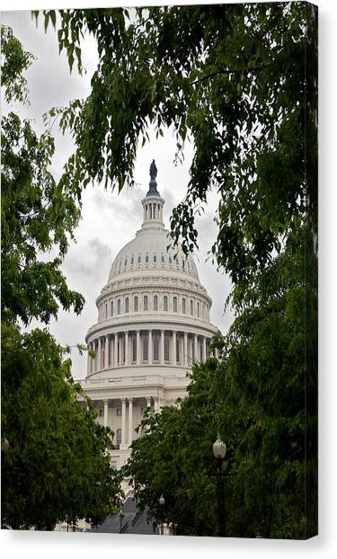 Clouds Over The Capitol Canvas Print