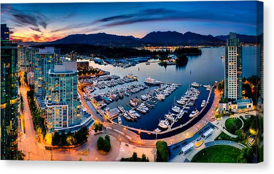 Coal Harbour In Vancouver Canvas Print