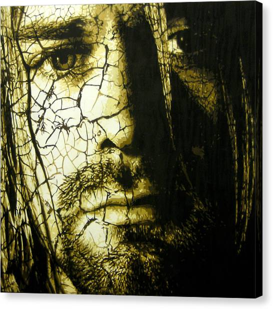 Pearl Jam Canvas Print - Cobain - You Know You're Right  by Bobby Zeik